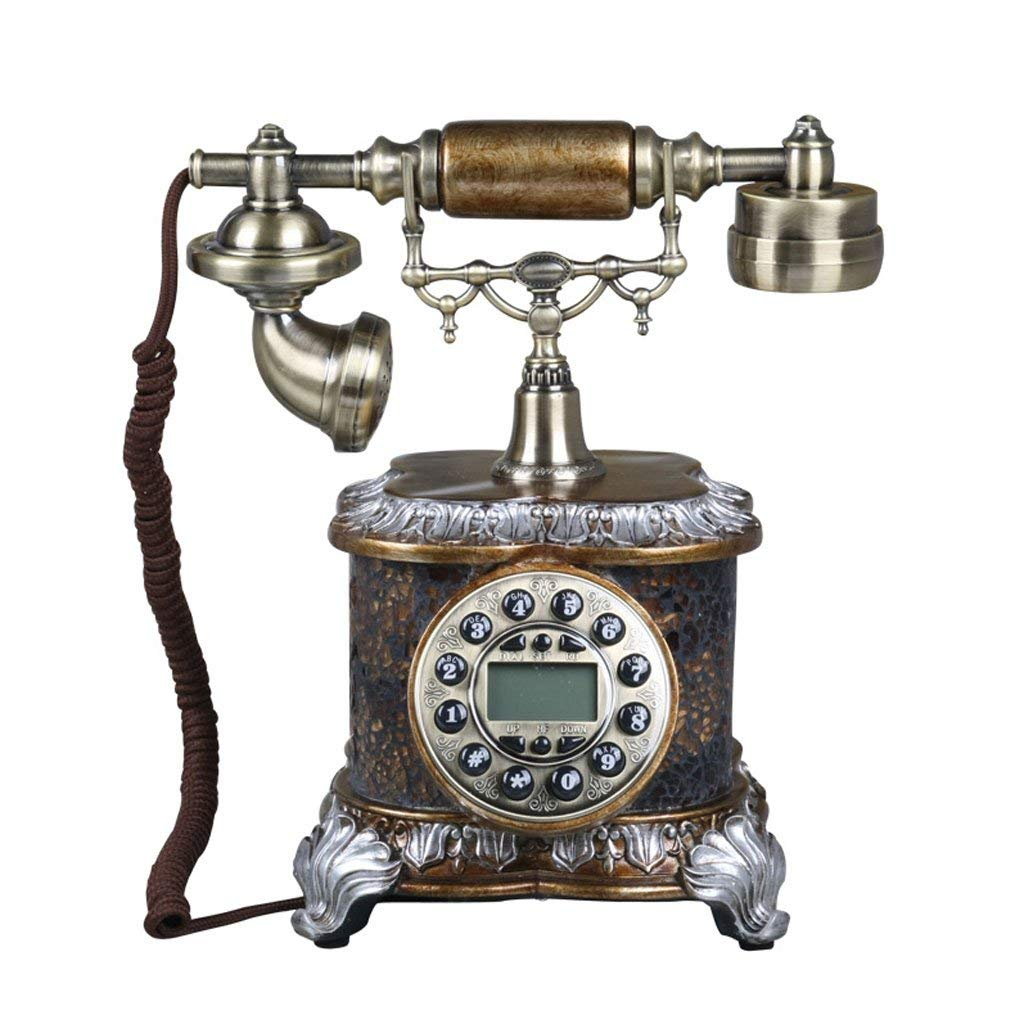 CHX Telephone antique American style high-end creative metal retro European style phone landline (Color : A, Size : L25CMH30CM)