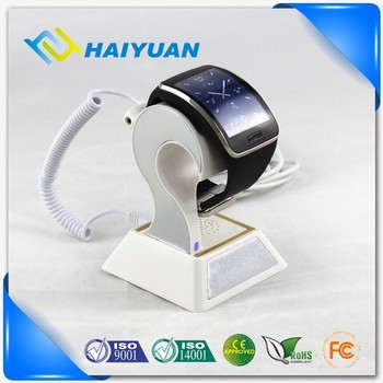 Security charging alarm display holder for smart watch