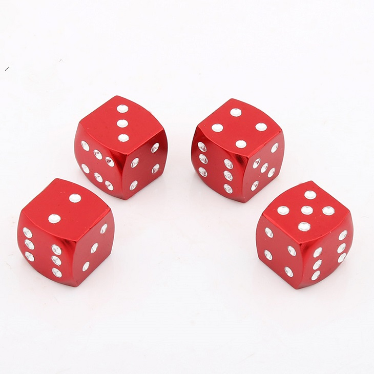 metal Dice Caps for Auto Truck Motorcycle Accessories Exterior Cool Caps