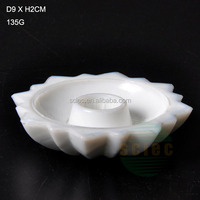decorate flower white porcelain candle holder