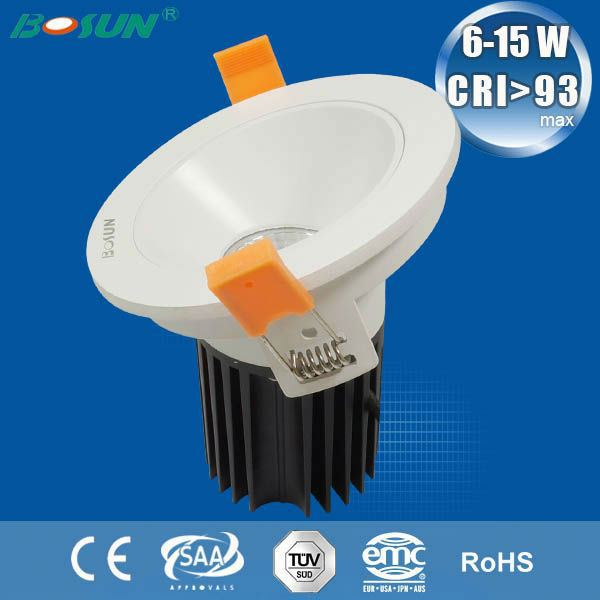 12w cob led down light with CE SAA certification