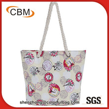 Natural cotton canvas organic fashion promotional tote gift bag