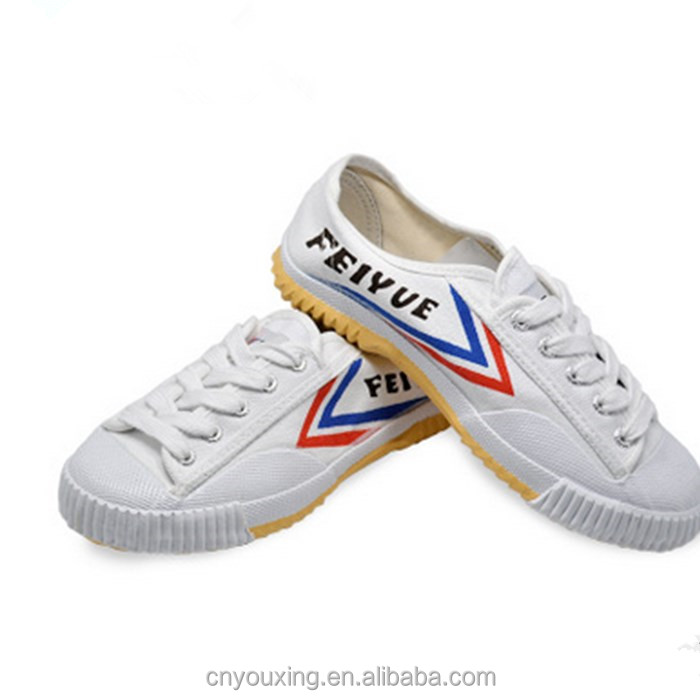 Chinese white rubber Feiyue canvas kungfu shoes