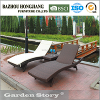 009L Outdoor Rattan Chaise Lounge With Modern Design
