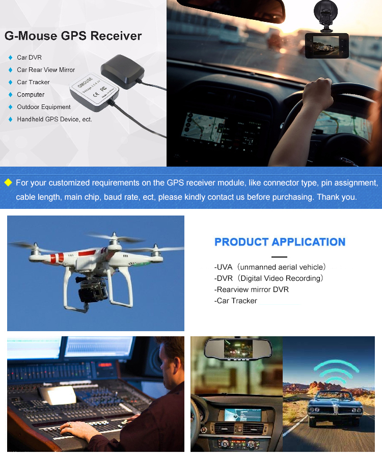 Marine Navigation Rearview Mirror GPS Drone External satellite Antenna receiver for Tablet PC