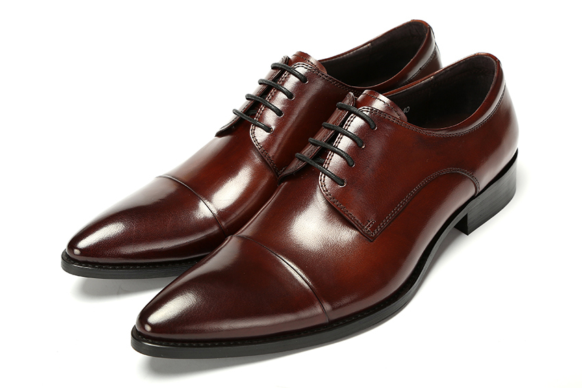 2015 Italian fashion party style genuine leather men dress shoes mens black wedding shoes men's shoes oxfords size:38-44 ox350