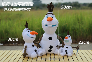 super soft touch plush toys pp suffed cute doll lovely toy wholesale hot selling frozen olaf plush toys promotion party gifts