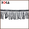 Black Sequins Lace Garment Trim with tassel for lady clothes/garment