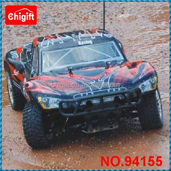 1/10 scale 4WD nitro powered Rally Monster two speed transmission
