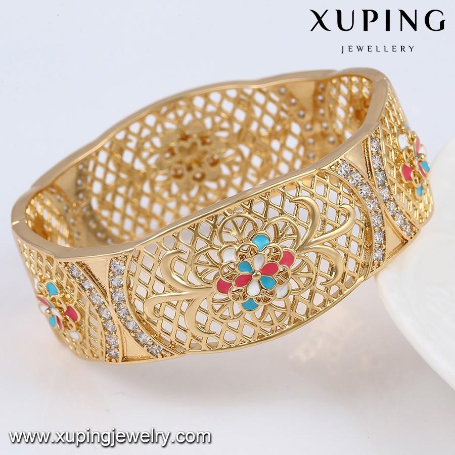 51463 Xuping 18k Gold Brass Jewelry Manufacturer Heavy Big Arabic ...