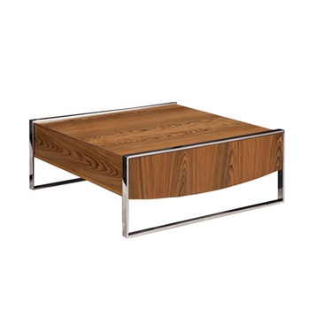Ta 817 Modern Stainless Steel Centre Coffee Table With Storage