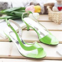 Meotina/обувь; женские босоножки; летние женские босоножки; прозрачная неоновая Дизайнерская обувь на низком каблуке; желтые туфли на высоком к...(Китай)