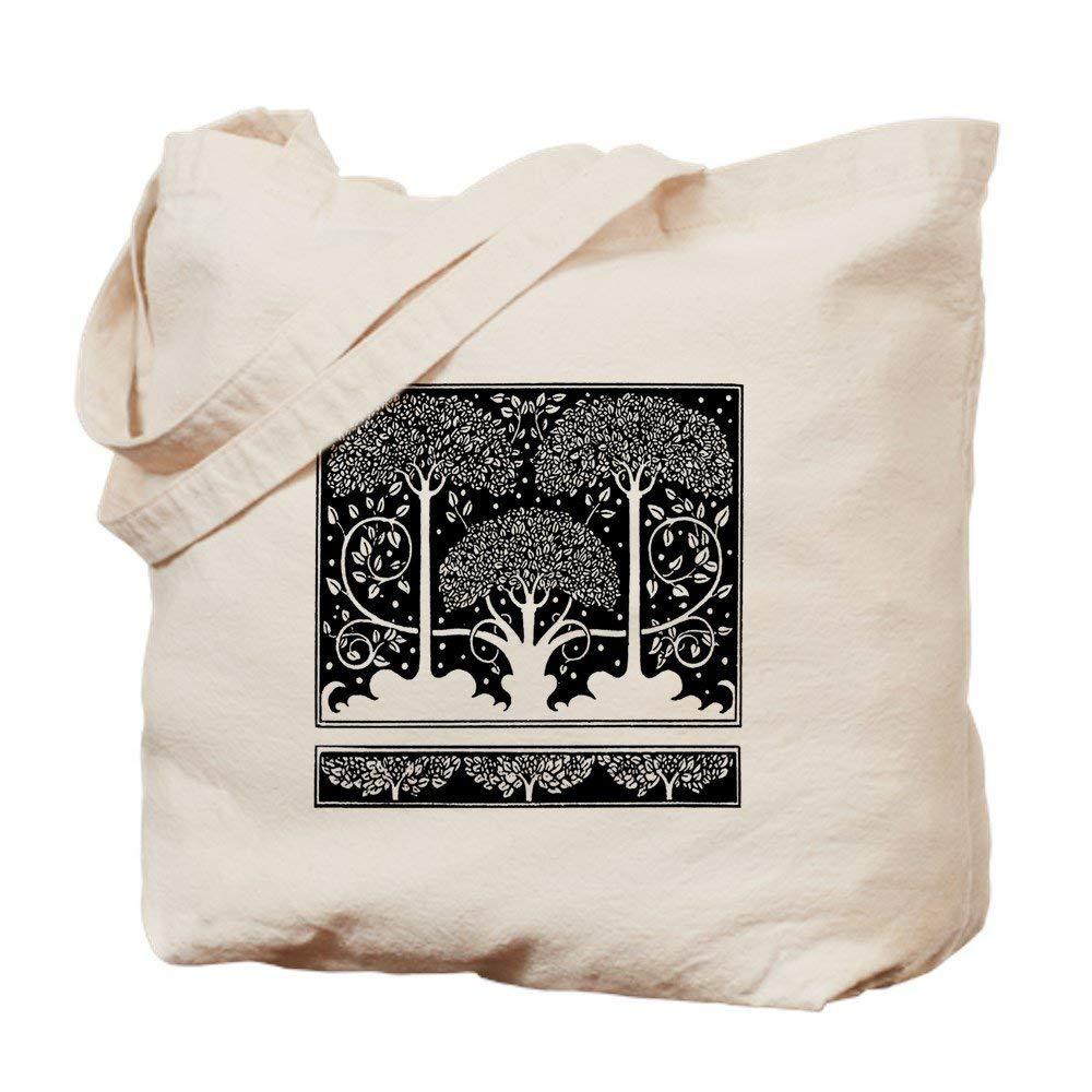 6e9ce8ce5209 Get Quotations · CafePress - Art Nouveau Vintage Tree Pattern - Natural  Canvas Tote Bag