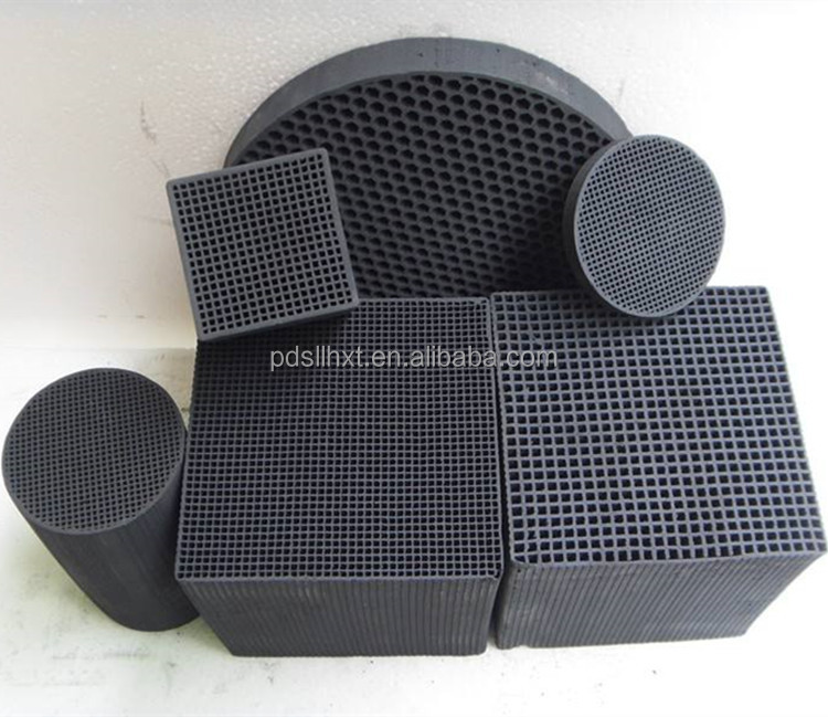 High quality honeycomb activated carbon for Waste gas treatment plant price per piece