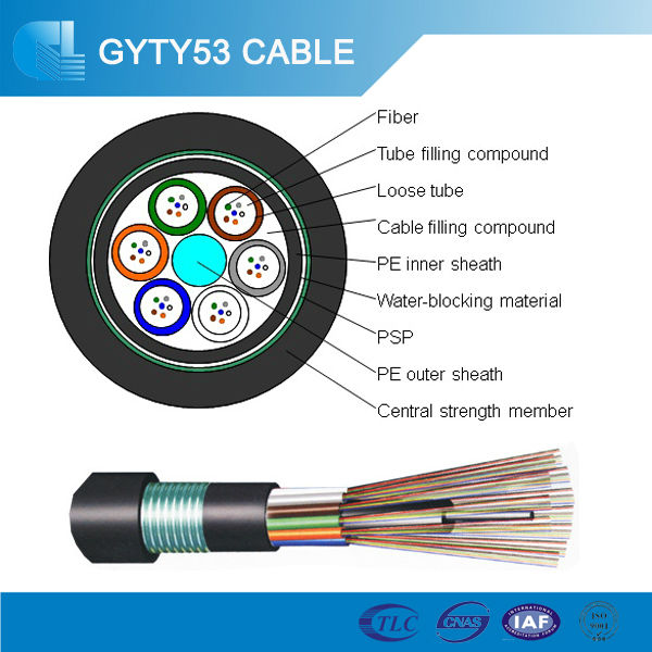 Gyty53 Loose Tube Optical Fibre 36f Single Mode Fiber
