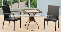 hotel bedroom square aluminum rattan coffee table set YPS027