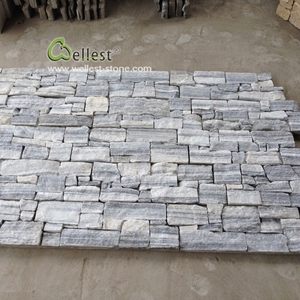 Cloudy grey wall panel exterior natural stone cladding