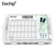 Eiechip 24Value 500pcs Aluminum Electrolytic Capacitor Kit Radial Lead Type Range 0.1uF-1000uF with Assortment Box Kit9