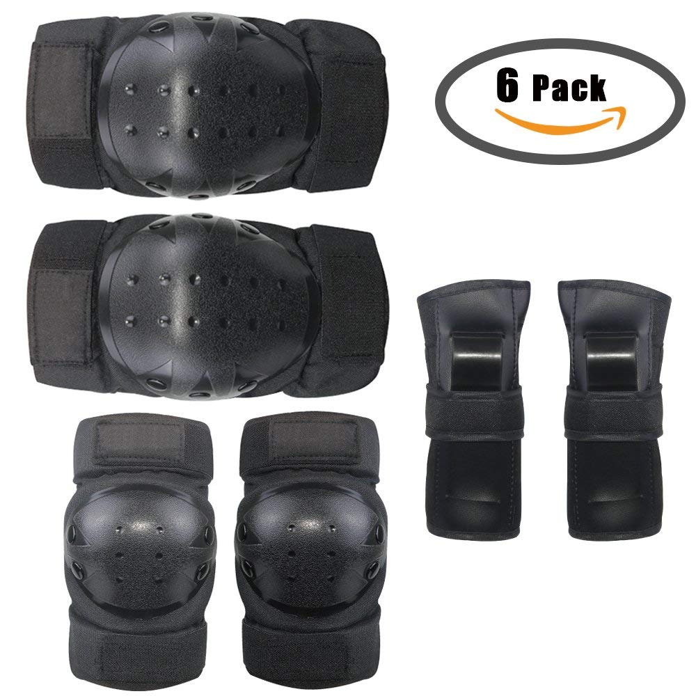 Adult elbow knee pads and wrist guards