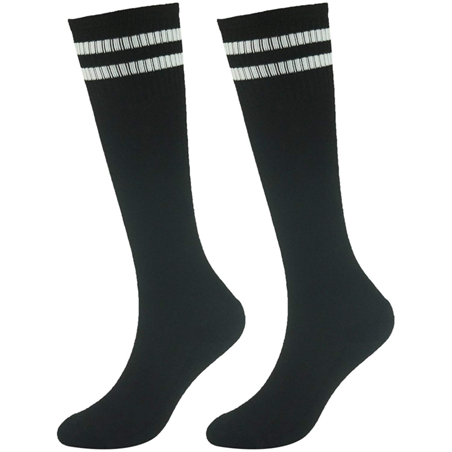 d47c0ef5f Get Quotations · Youth Soccer Socks, saillsen Knee High Sports Socks Boys  and Girls Long Tube Baseball Socks