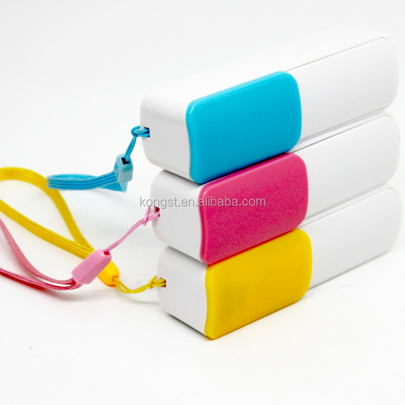 wholesale sliding full color portable power bank 2600mah, mobile phone charger baby bulk cheap