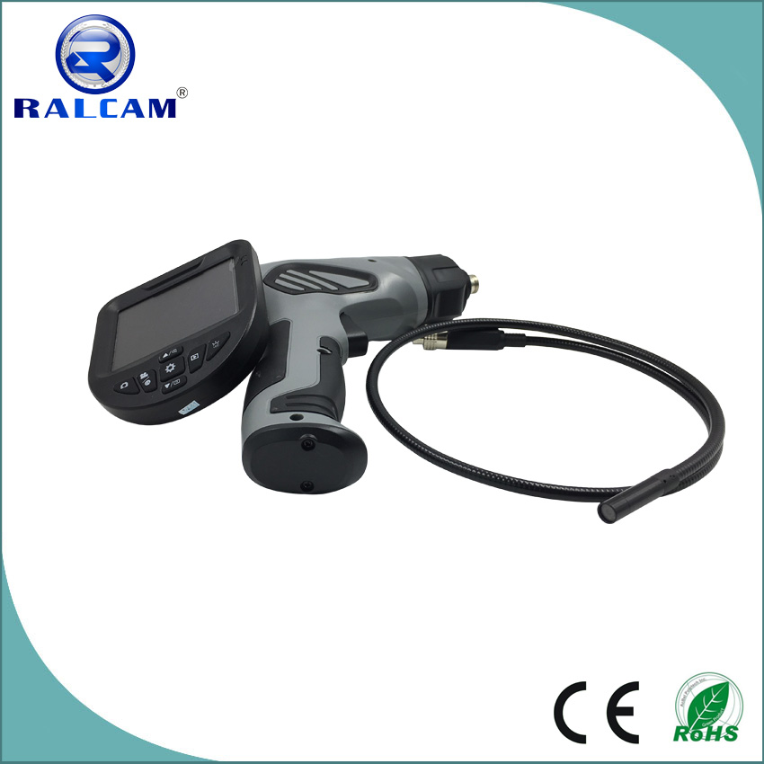 Temperature dispaly 1M snake tube 4x zoom image functions portable video borescope with 2600mA rechargeable battery