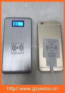 High Quality Dual USB Port 10000 mah Power Bank + Qi Wireless Charger 2 in 1