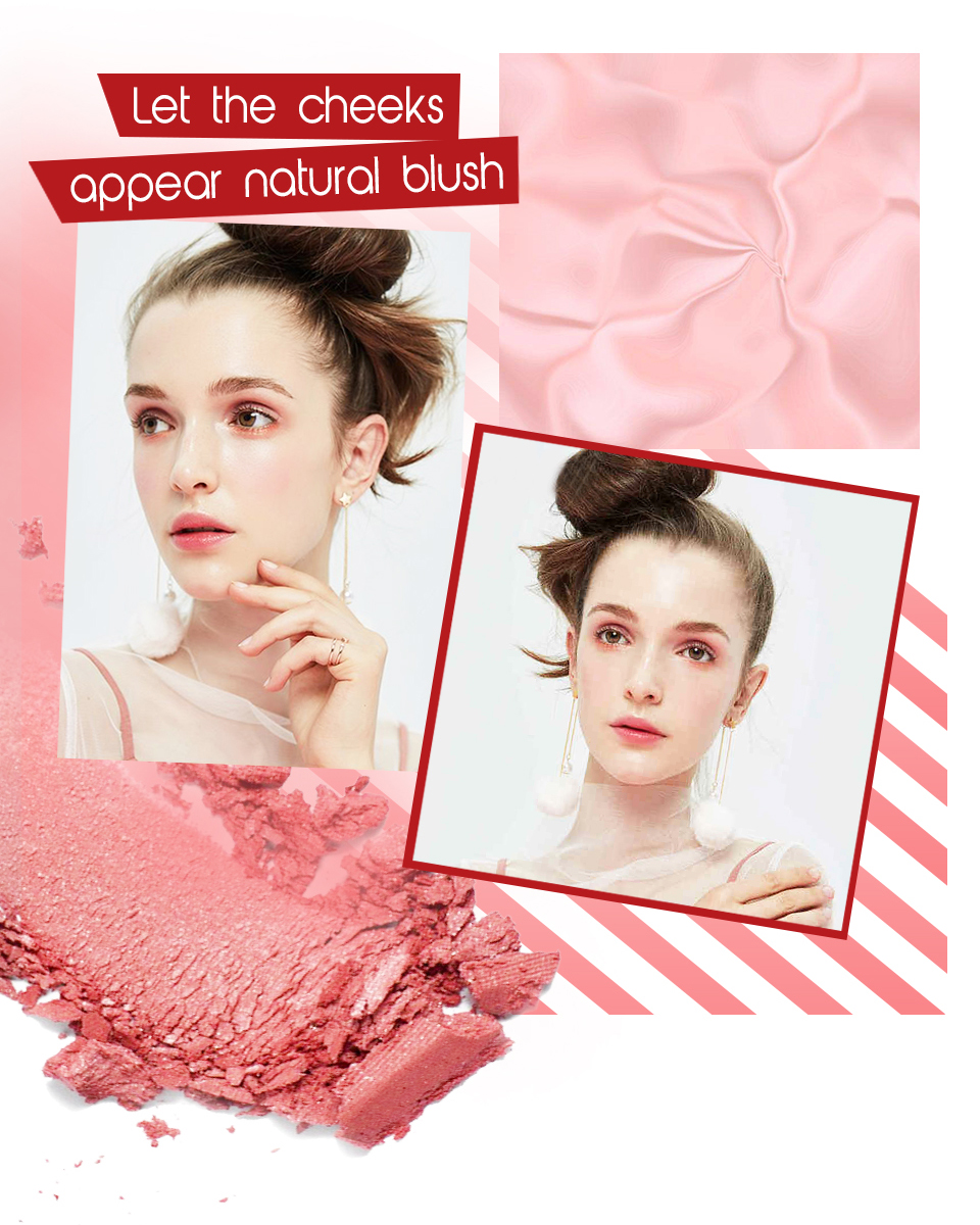 O. TWEE. O 6 Kleur Facial Blush Powder Blusher Make