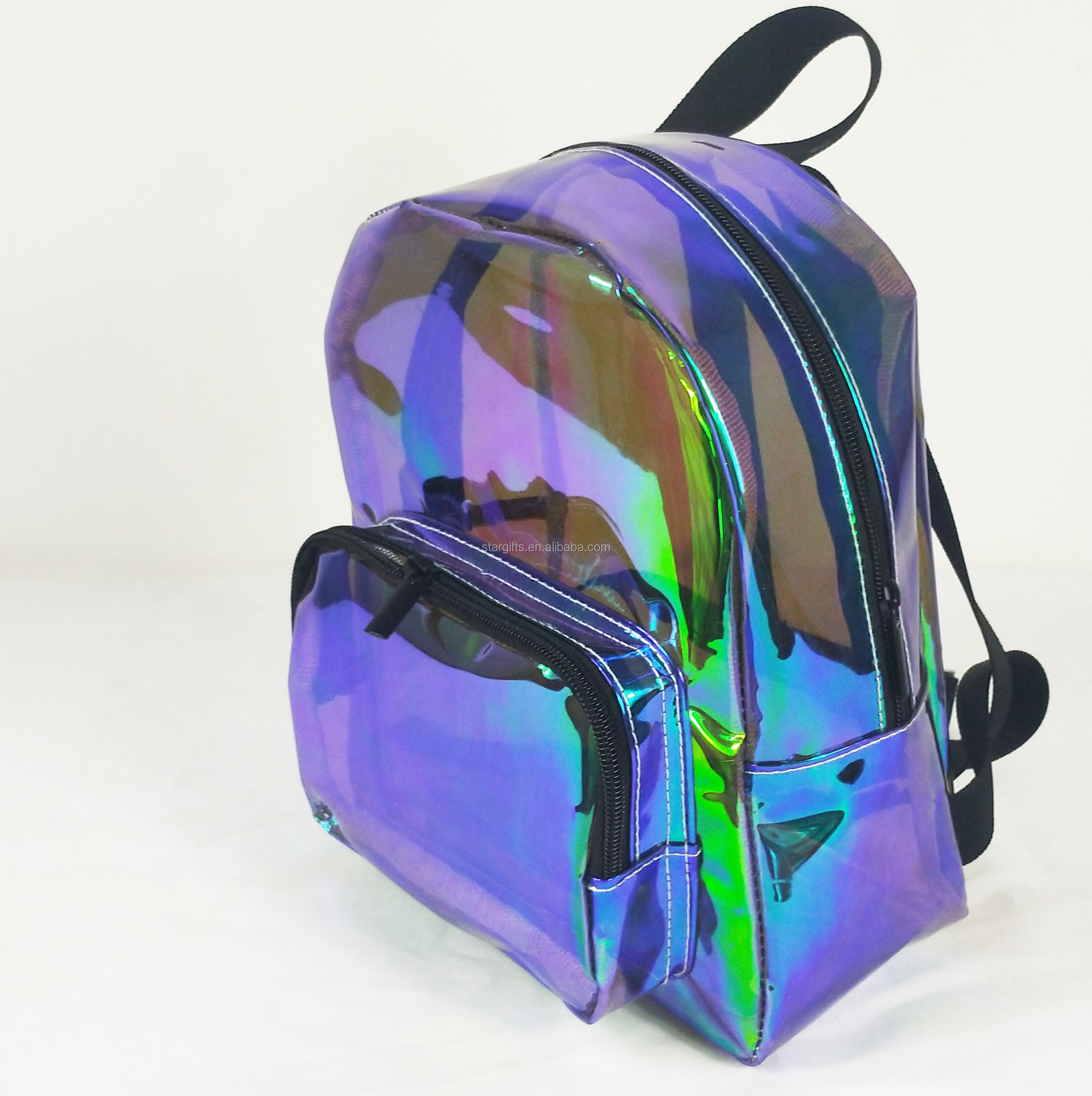 2019 New Fashion Design Colorful Eco Rucksack Transparent PVC Clear Set Backpack with Makeup Pouch