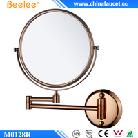 Beelee M0128R Wall Mounted Bathroom Rose Gold Shaving Mirror