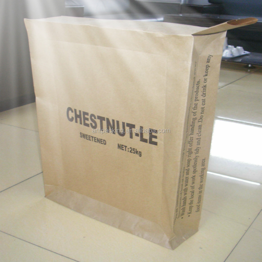 25KG kraft paper cement sack with Outer Pocket