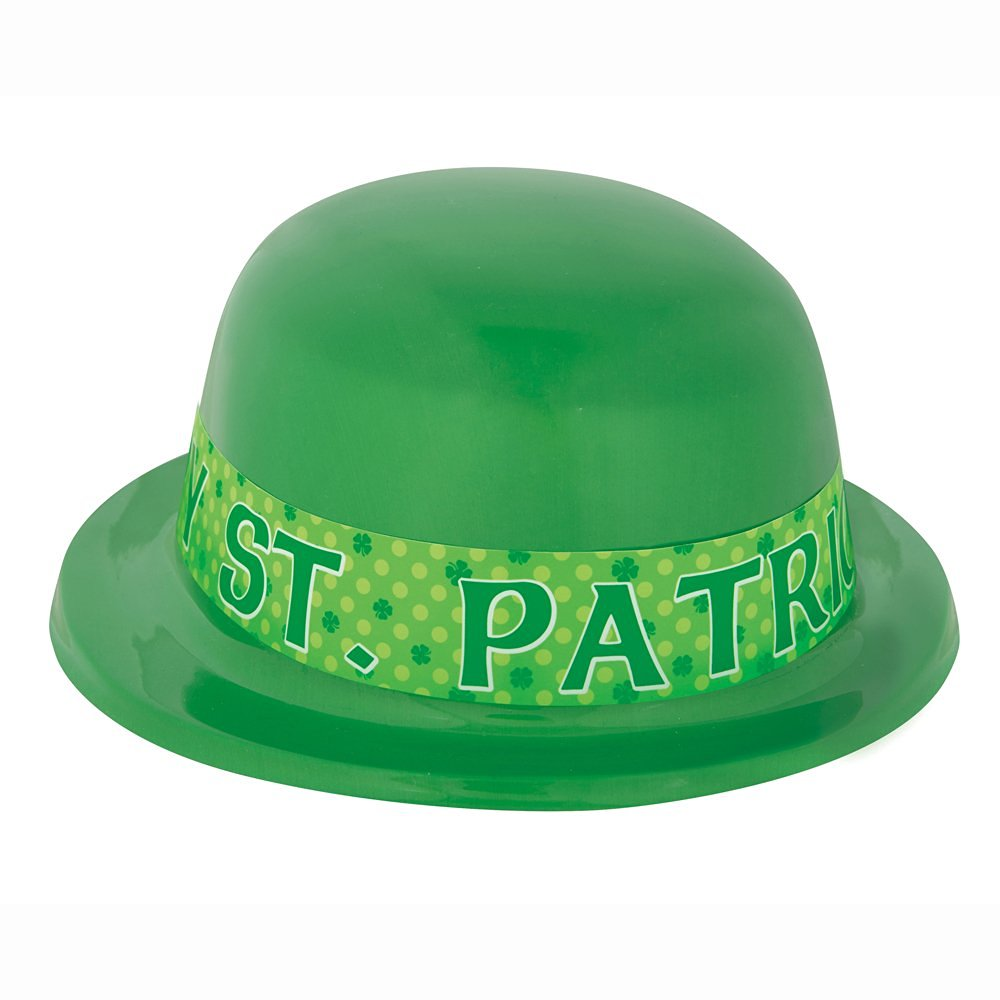 Get Quotations · Saint Patrick s Day Green Derby Hat 4ced210c64cf