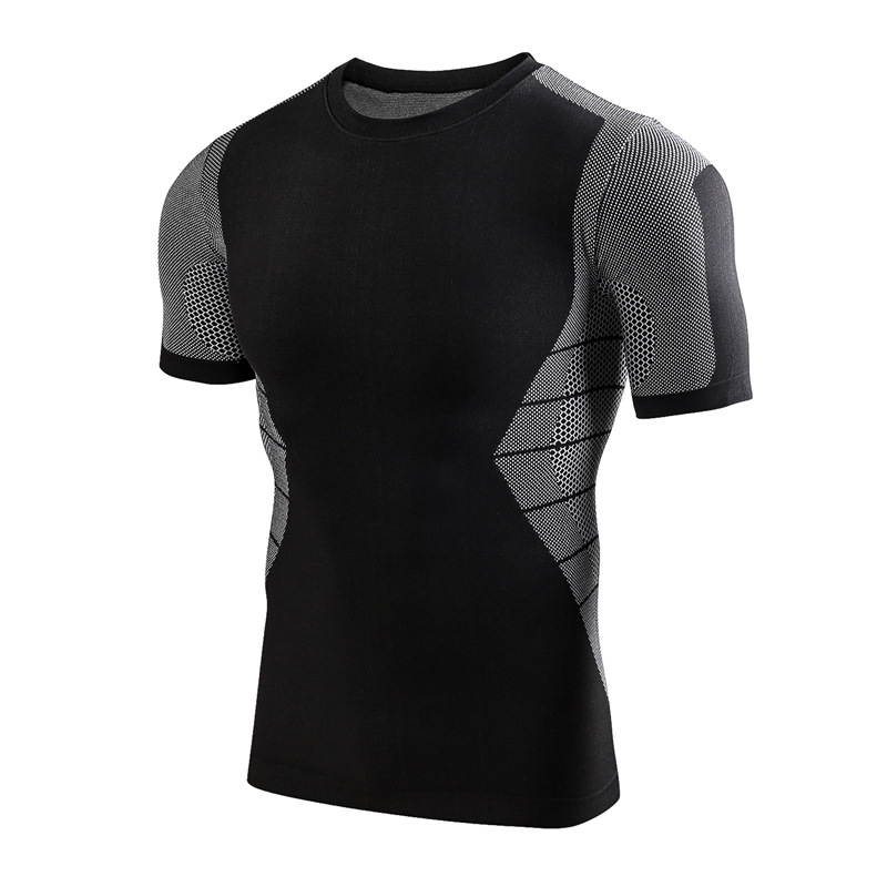 2018 New Arrival Short Sleeve Fitness Breathable Men Dry Fit Wholesale Gym Wear For Running 5