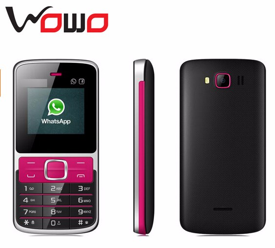 Hot Selling Low Price Mobile Phone Whatsapp 2G Basic Feature Phone Dual SIM Slim Mobile V80