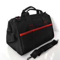 17 inch polyester tool bag with shoulder strap