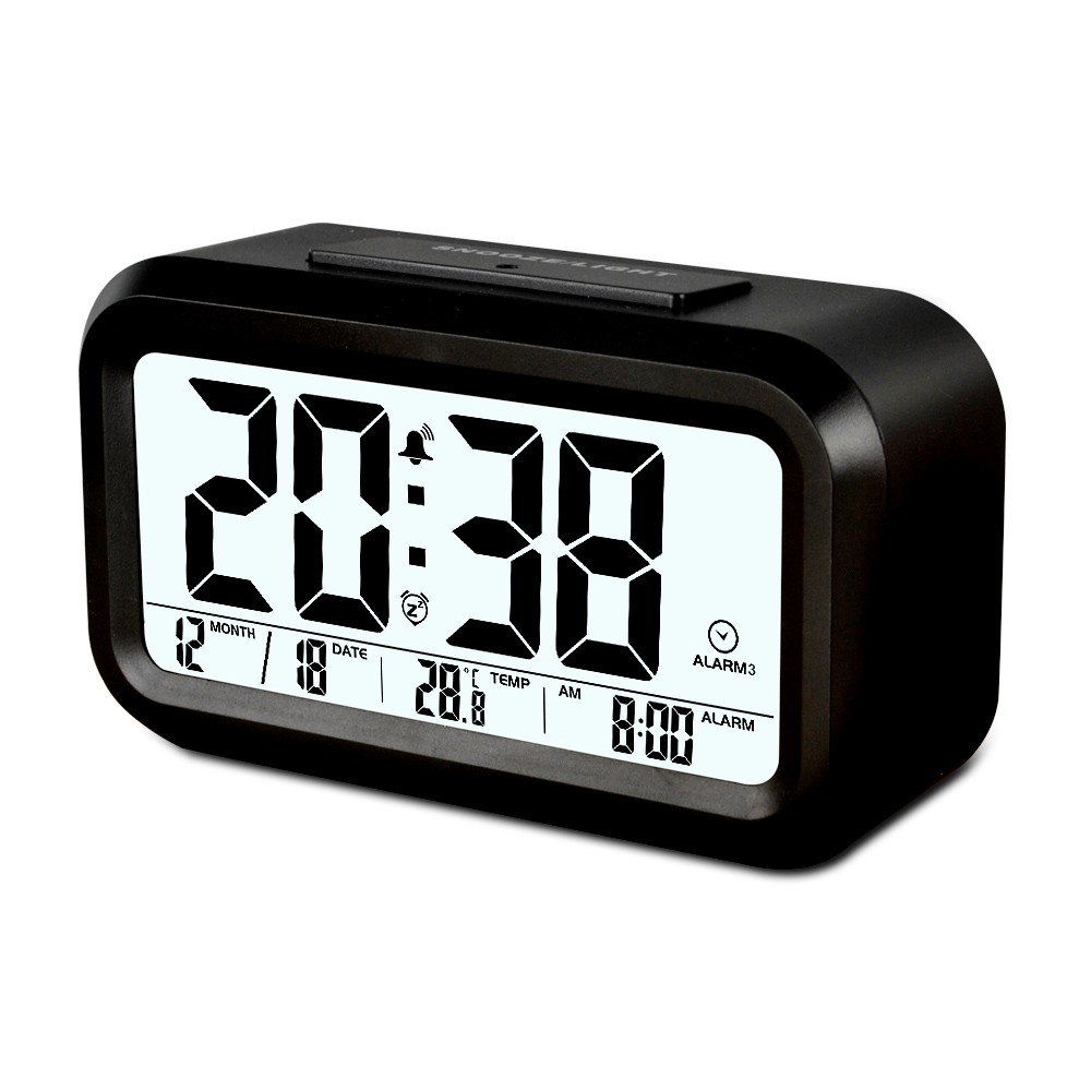 LCD Display Electronic Digital Calendar Alarm Clock for Promotion