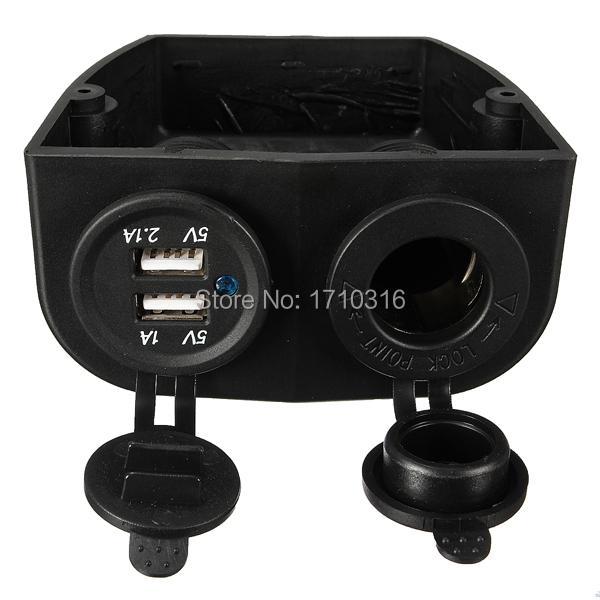 Новое 12 / 24 В морской лодка караван автомобильный сигареты разъем питания + USB зарядное устройство адаптер питания