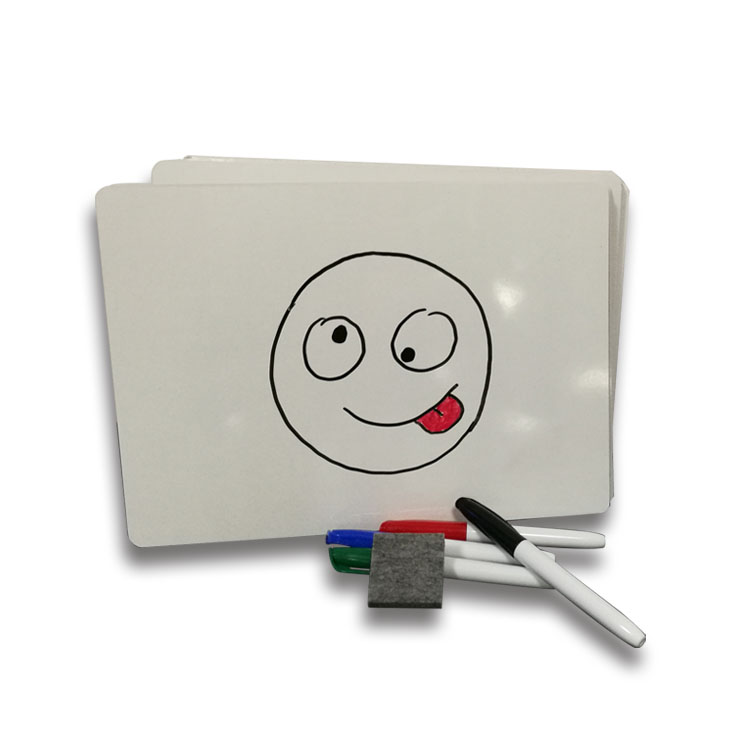 No Frame Double Side Kids Magnetic White Board Includes Whiteboards, 2 Inch Felt Erasers And Black Dry Erase Markers