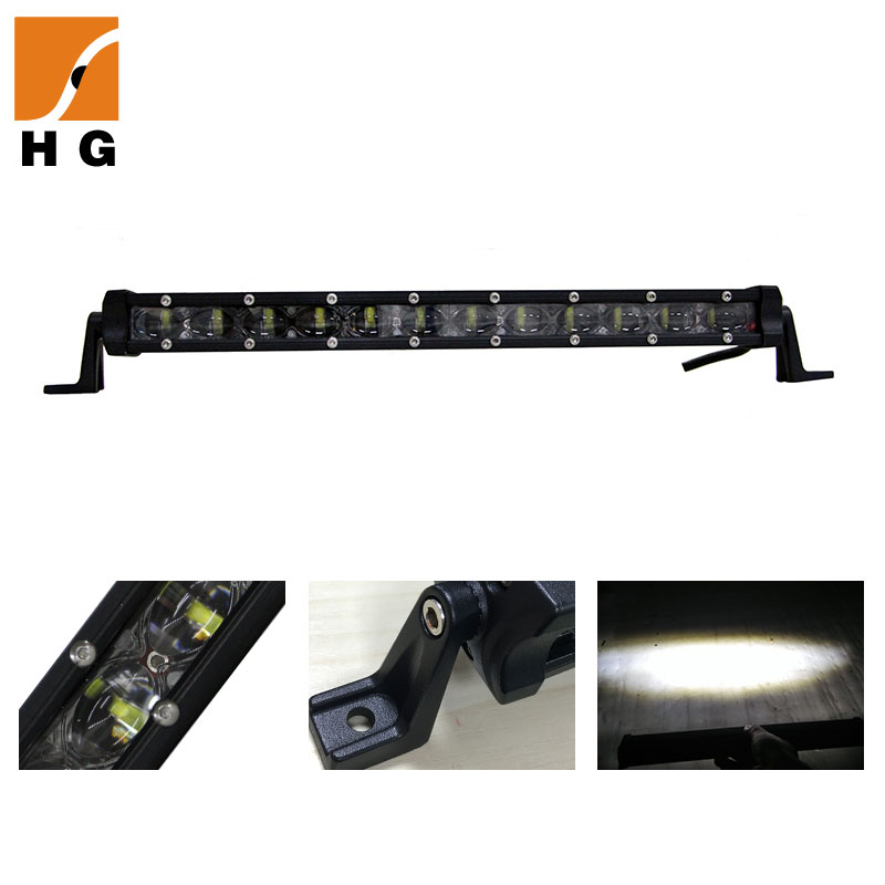 2020 new single row super slim led offroad light bar truck 7D LED lightbar for JEEP offroad 4*4