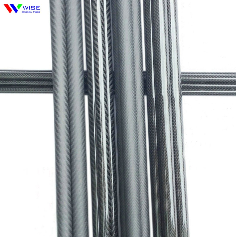 3000mm long length <strong>carbon</strong> fiber tube/pipe factory