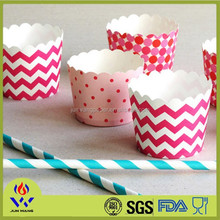 Factory price food grade colorful paper muffin cup cake for cake decoration