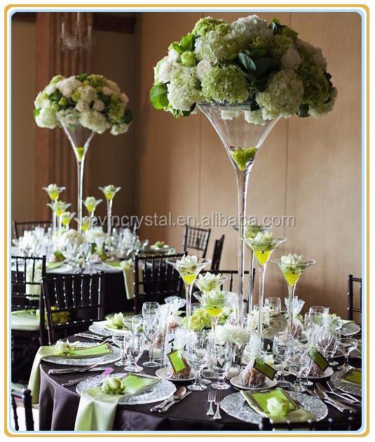 Hoch Stammten Martini Vase Dekoration Fur Hochzeit Tischdekoration