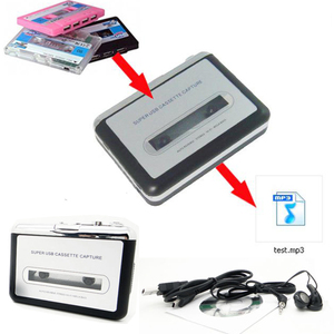 Tape to PC USB Cassette-to-MP3 Converter Capture Audio Music Player Wholesale
