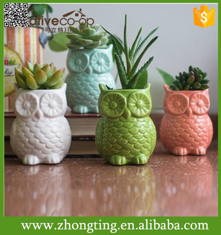 Home Decorative Handmade Cheap Small Ceramic Flower Owl Animal Clay Pots -  Buy Animal Clay Pots,Handmade Flower Pot,Cheap Small Flower Pots Product on