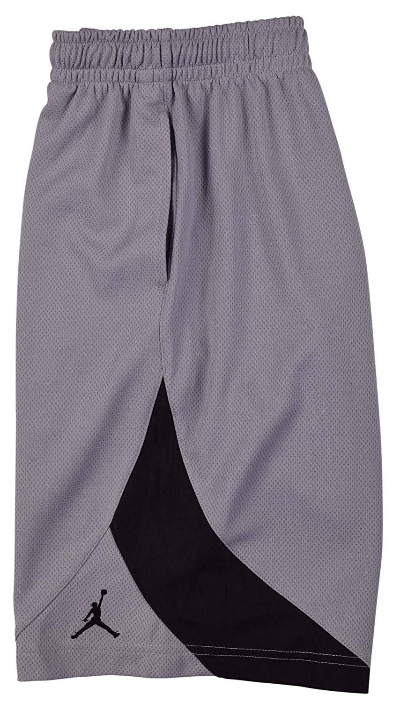 huge discount 4b8a6 7c76f Get Quotations · Jordan Youth Boys Jumpman Basketball Shorts Gray Black