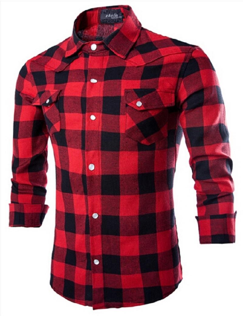 Promoción de Camisas A Cuadros Para Los Hombres - Compra