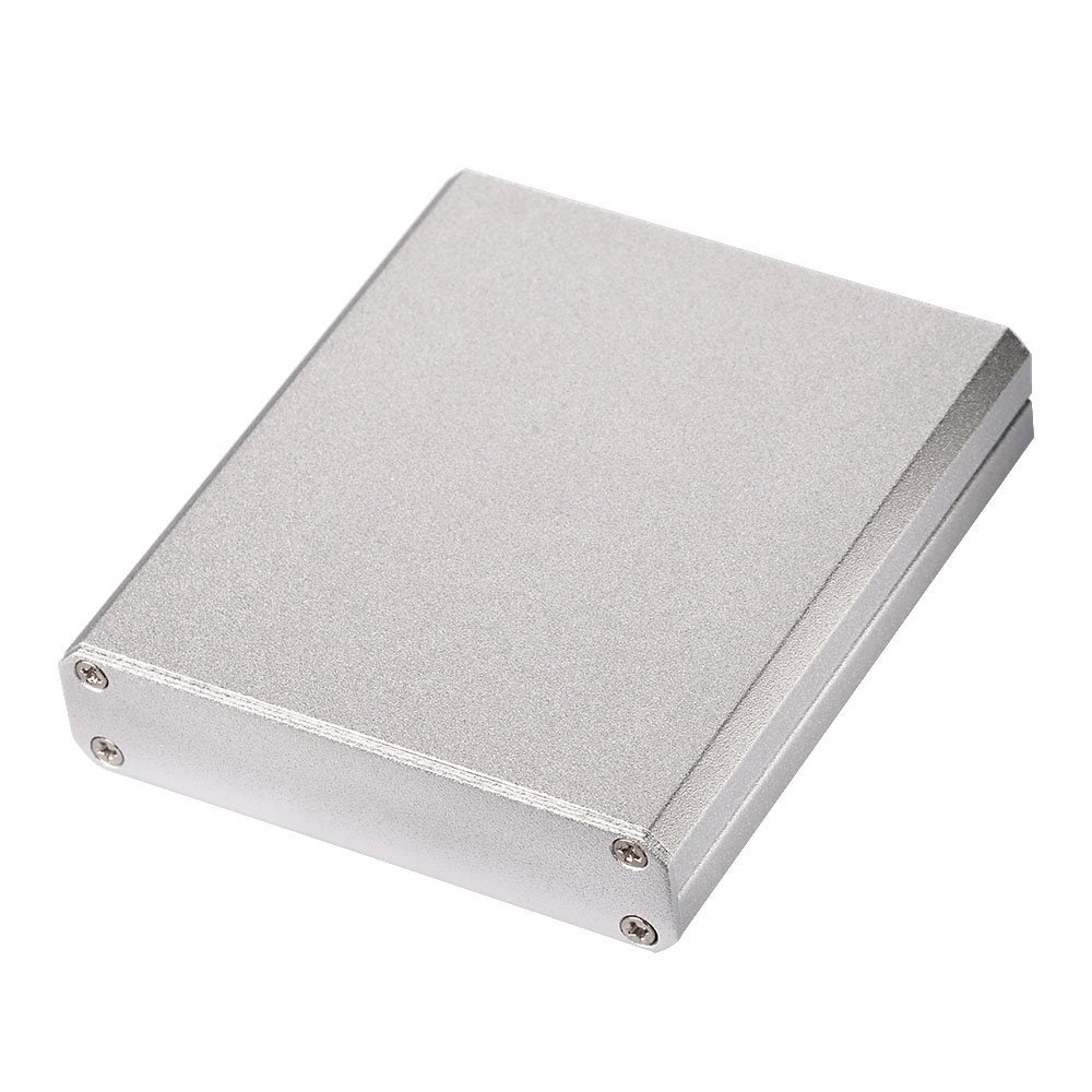 """wlaniot 2.95""""2.64""""0.59""""(LWH) Split Body Extruded Aluminum PCB Instrument Box Enclosure Case for Amplifier PCB Electronic DIY-756715mm"""
