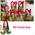 2016 Free shipping Christmas decorations Elf Candy Bag Foreign trade selling Christmas gift bags 5pcs set