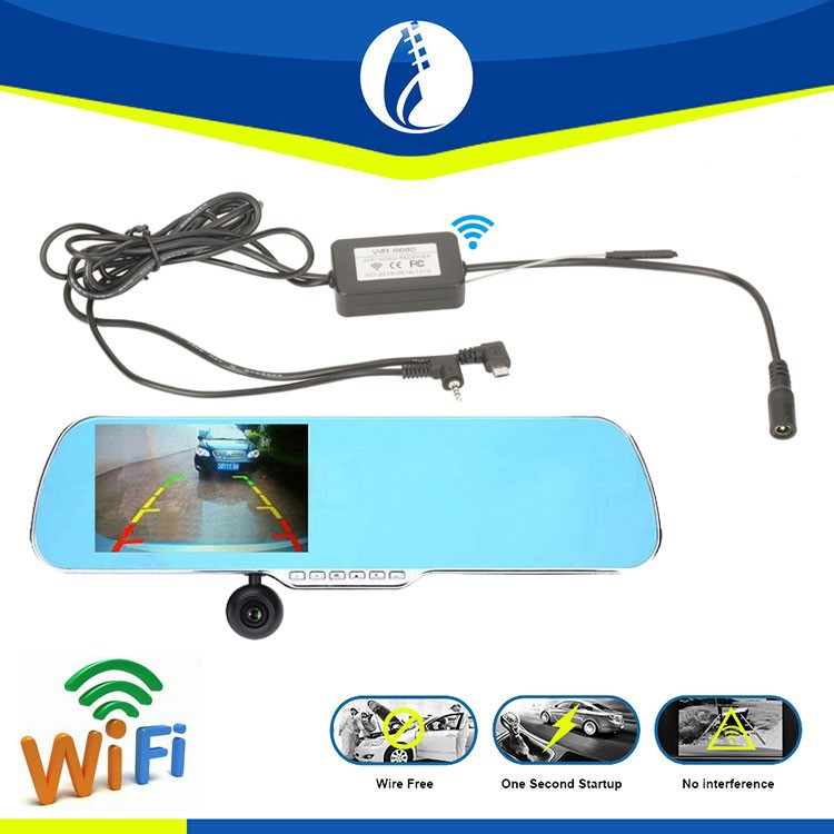 5 inch 1080P touch screen andriod car rear view mirror camera WiFi rearview mirror GPS navigation DVR