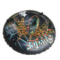 black spider durable inflatable round snow tube